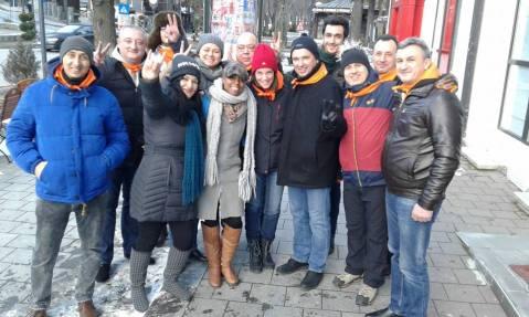 Me and my new Bulgarian colleagues (Sinaia, Romania)